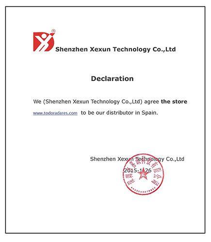 Todoradares distribuidor Xexun España
