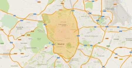 Interior M-30 almendra central prohibición circular - contaminación