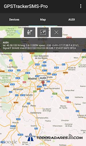 Localizador GPS Xexun tk103-2 App mapa