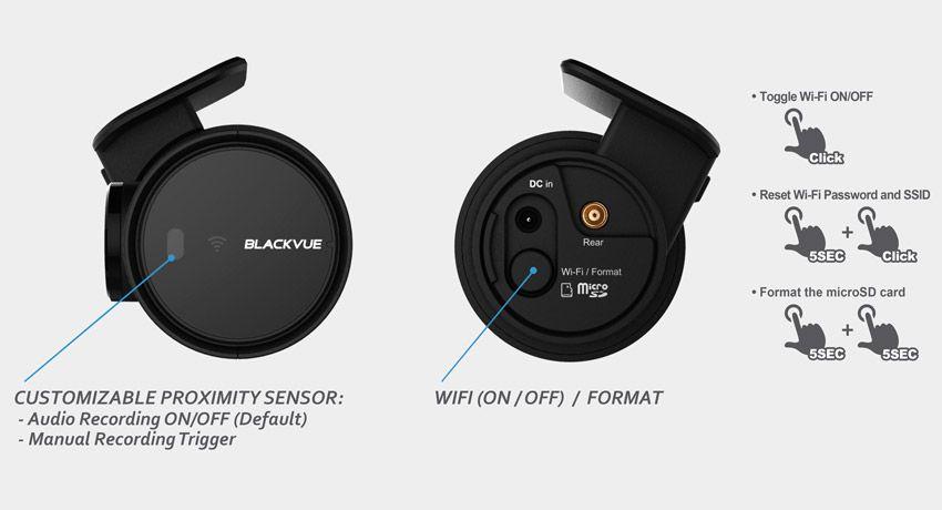 Blackvue DR750S Sensor proximidad