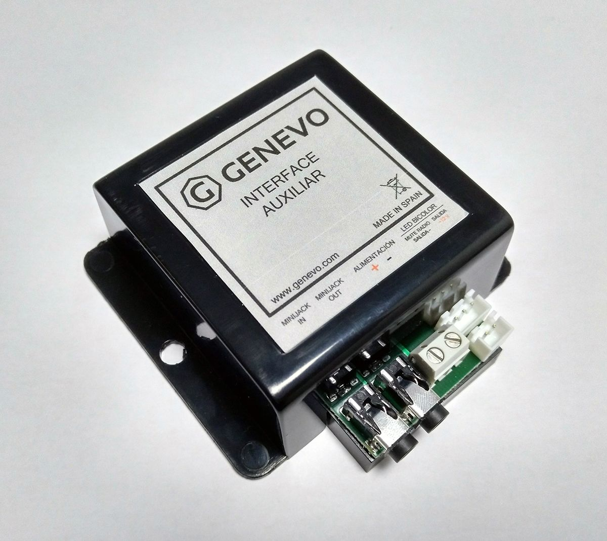 Interface auxiliar alerta Genevo detector radar