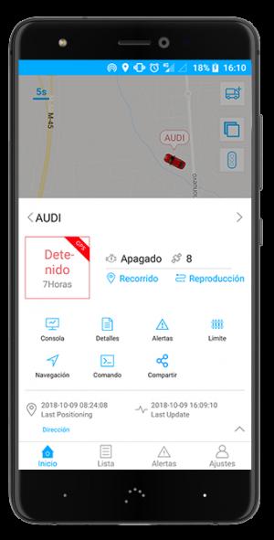 Localizador GPS Premium GT app panel de control