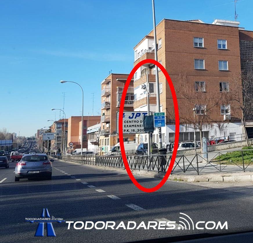 Radar Tramo A5 Madrid Batán Campamento Paseo Extremadura