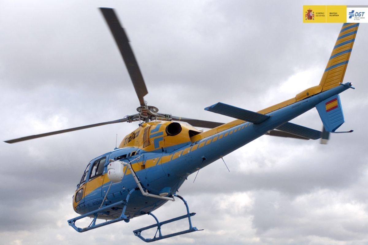 Helicóptero Pegasus DGT radar Dirección General de Tráfico
