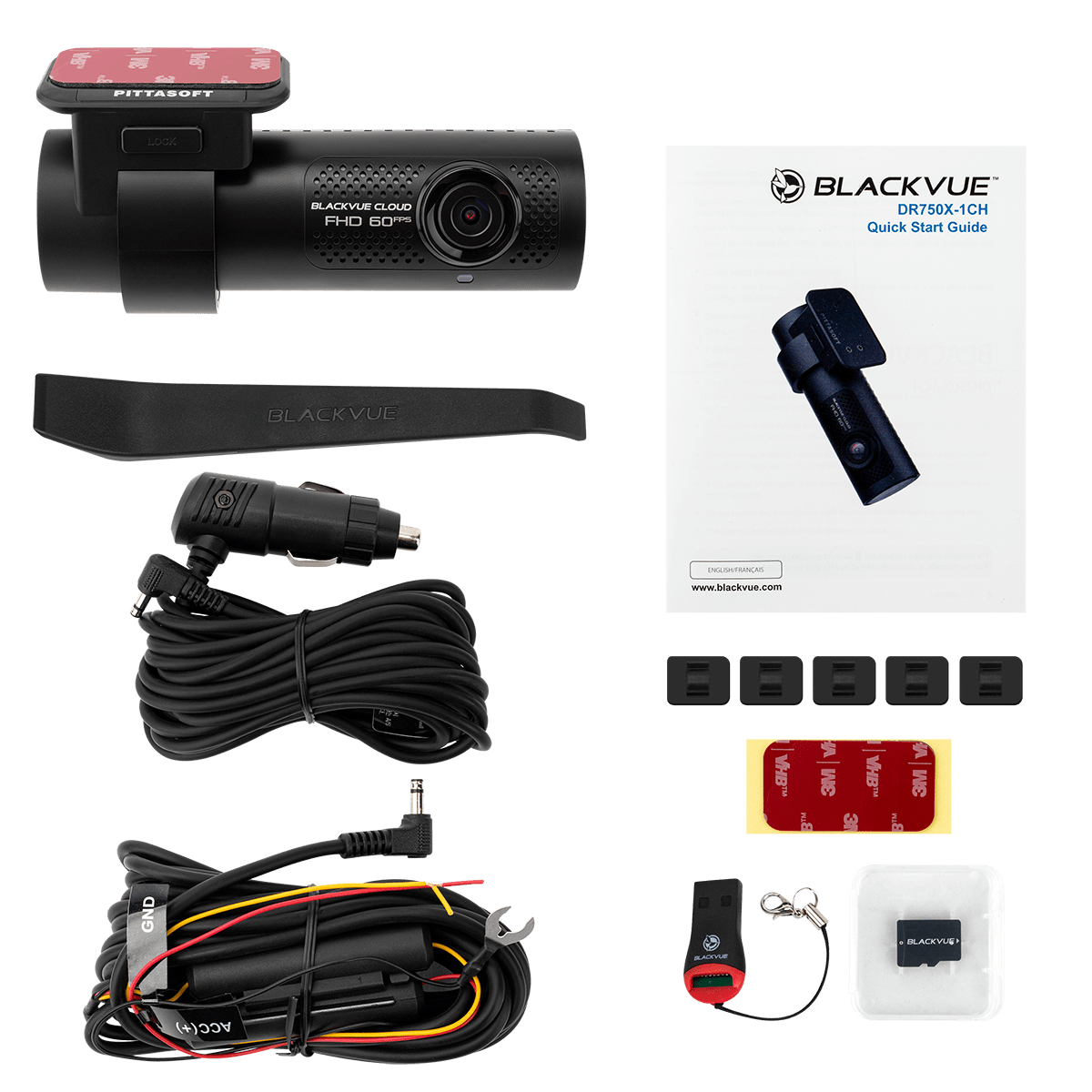 Blackvue DR750X 1 ch - Contenido paquete
