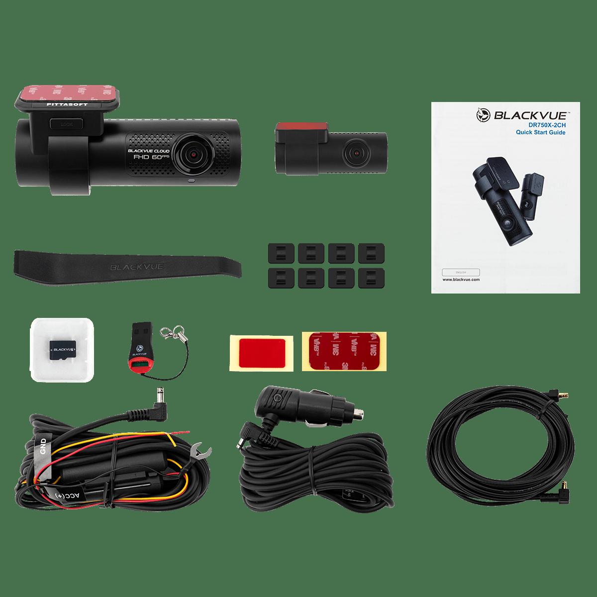 Blackvue DR750X 2 ch - Contenido paquete